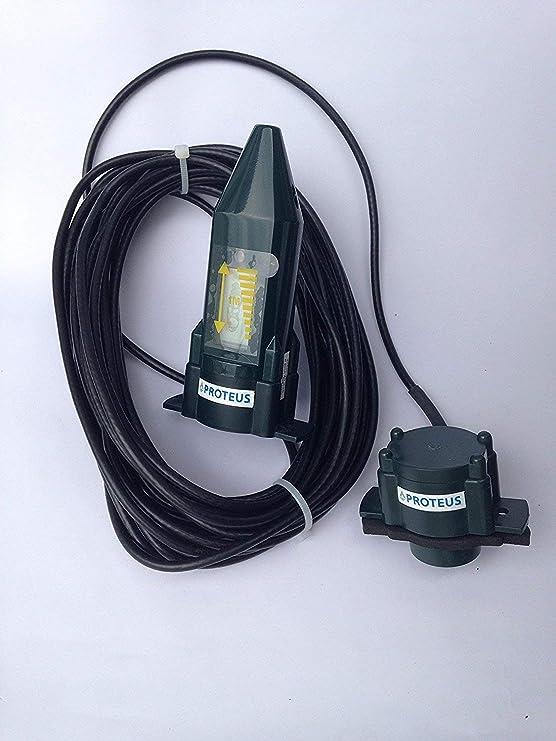 Indicador de nivel para depósitos de aceite de calefacción, más pantalla inalámbrica - EcoMeter Plus - la variante para depósitos subterráneos y zonas ...