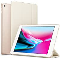 Robustrion Smart Trifold Hard Back Flip Stand Case Cover for New iPad 9.7 inch 2018/2017 5th 6th Generation - Gold