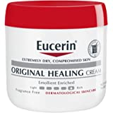 Eucerin Original Healing Cream - Fragrance Free, Rich Lotion for Extremely Dry Skin - 16 oz. Jar