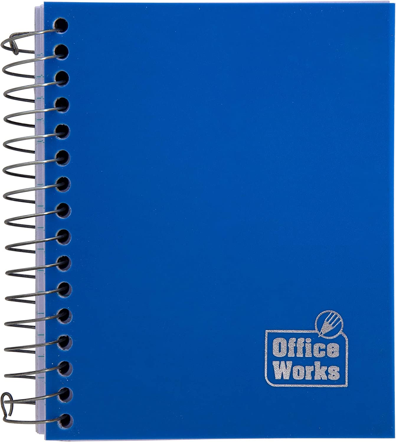 Office Works 12 Pieces Black 320-Page Mini Spiral Subject Notebook Set 4 X 5.Inches