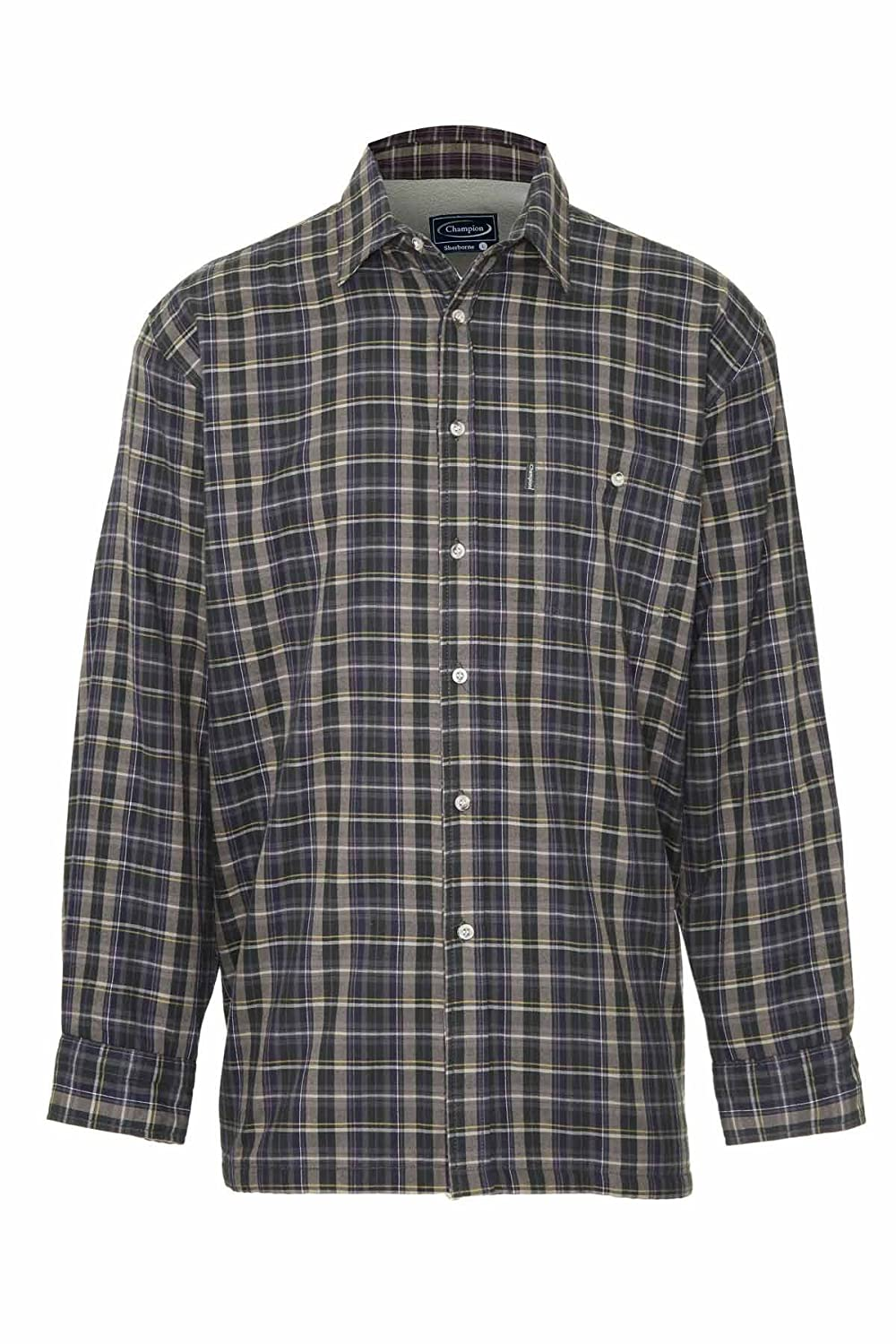 Champion Mens Sherborne Micro Fleece Lined Cotton Rich Winter Shirt