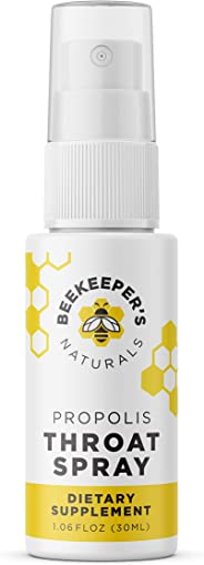 BEEKEEPER'S NATURALS Propolis Throat Spray - 95% Bee Propolis Extract - Natural Immune Support & Sore Throat Relief, Great f