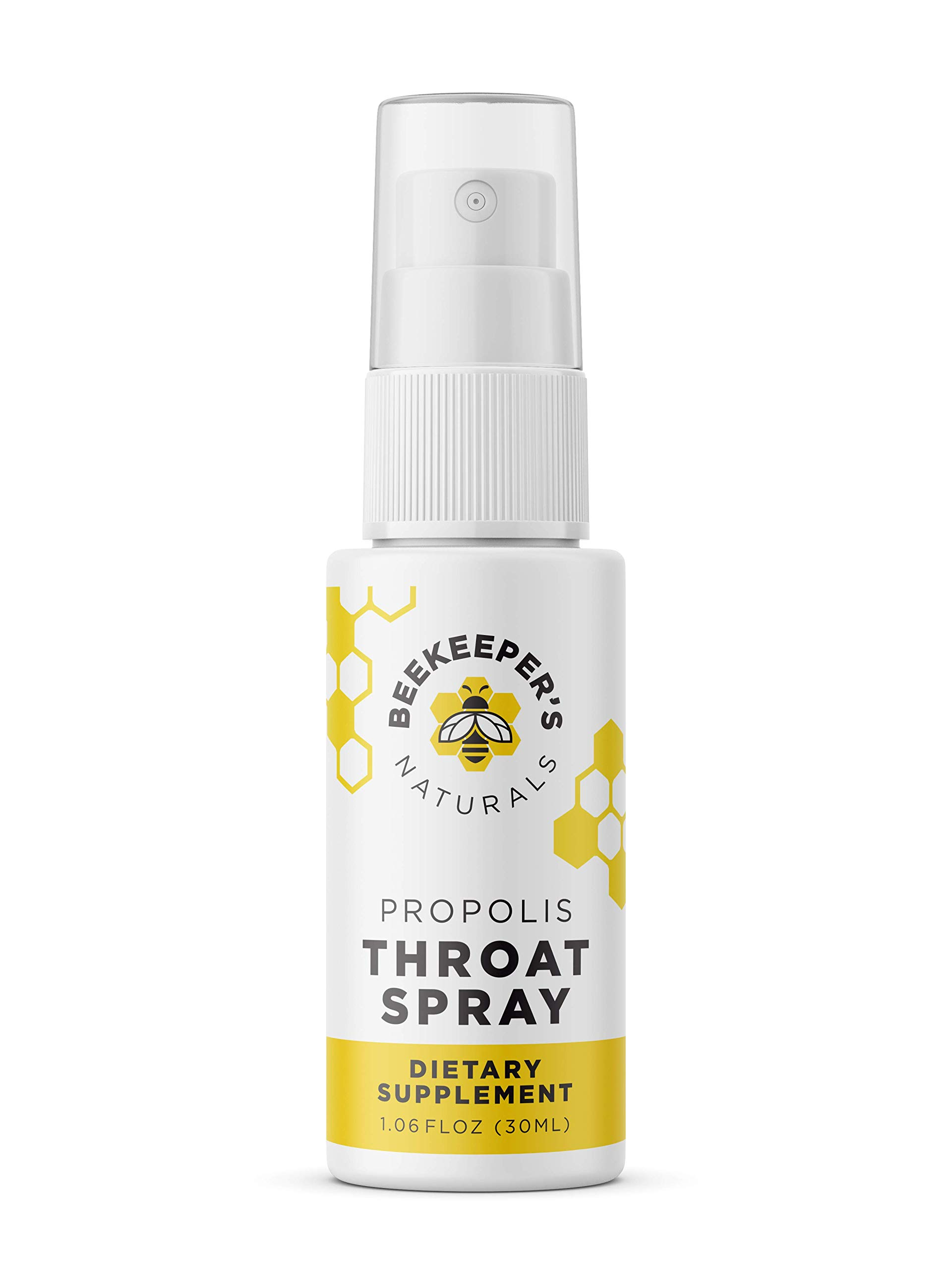 Bee Propolis Throat Spray by Beekeeper's Naturals | Premium 95% Bee Propolis Extract | Natural Throat Relief and Immune Support | Great for Cold & Flu Symptoms by Beekeeper's Naturals