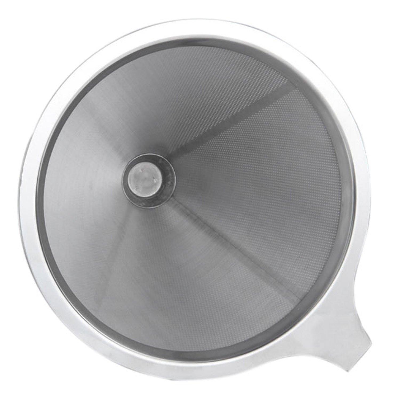 Xcellent Global Cafeti/ère /à filtre sans papier acier inox filtre double maille HG135