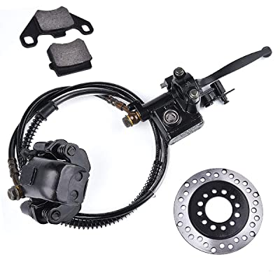 Brake Master Cylinder Caliper Assembly with Disc Brake Rotor Roketa Kazuma Taotao SUNL Jetmoto BMS Baja Coolster 50CC 70CC 90CC 110CC: Automotive