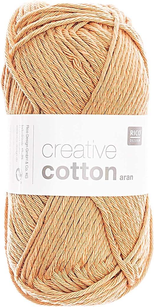 Rico Creative Cotton Aran FB. 29 Albaricoque Oscuro, Hilo de ...