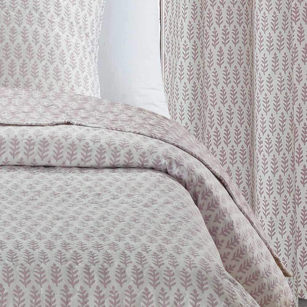 PimpamTex Couvre-lit Bouti R/éversible Couverture Dessus de Lit - 180 x 270 cm, Agra Sable