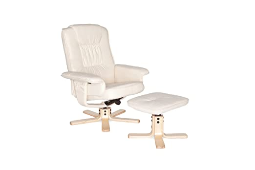 Amstyle Design Comfort - Sillón Giratorio y reposapiés (Piel ...