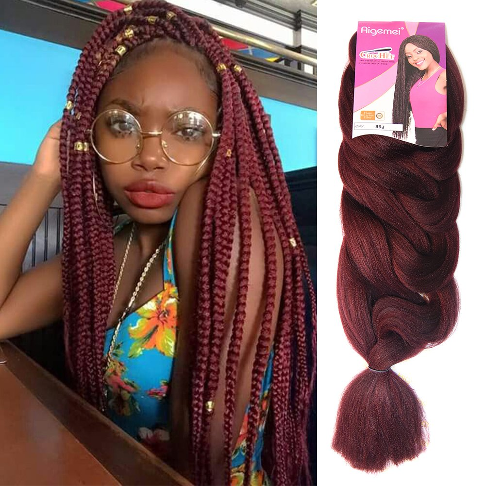 Top Hair Extension Braiding 100 Synthetic Straight Hair Ombre Color 165g 84inch 1pcs Wine Red Beauty