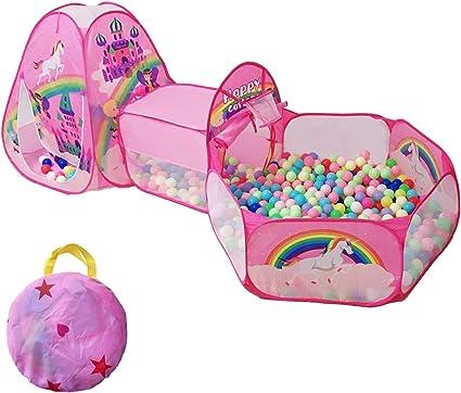 Pop Up Children Play Tent Baby Castle Indoor Outdoor Kids pit balls Playhouse