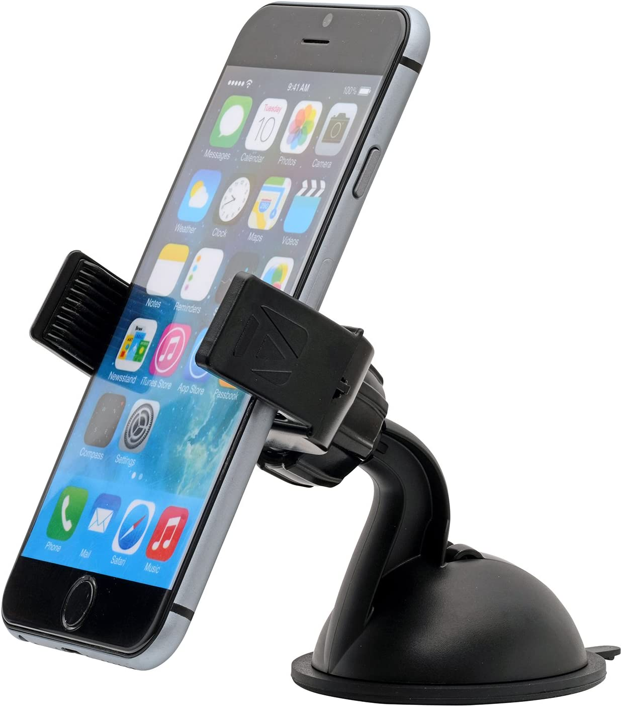 Aduro UNI-SPH01BK-CM U-Grip Plus Universal Dashboard/Windshield Car Mount for Smartphones and Multimedia Devices with 3.5 to 5.5-Inch Screen (Black)
