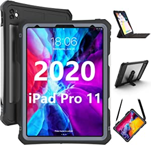 YOGRE for iPad Pro 11 Case2020, iPad Pro 11 Inch Waterproof ProtectiveDirtproof Shockproof Case Cover with 360 Full-Body Protection, New AppleiPad Pro 11case with Lanyard and Kickstand