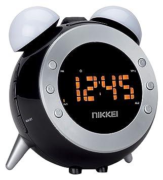 Nikkei nr280p Radio Despertador con proyector, Dos alarmas y ...
