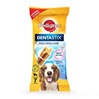 Pedigree Dentastix Medium Breed Dog - Oral Care, 180 g Weekly Pack (7 Sticks)