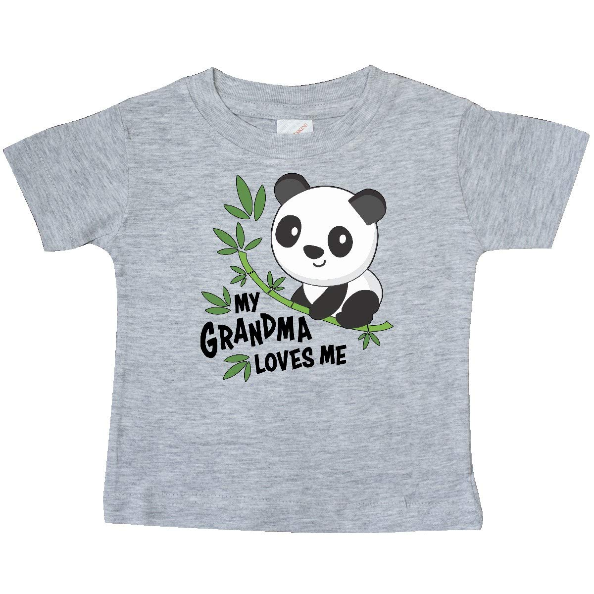 Cute Panda Baby T-Shirt inktastic My Grandma Loves Me