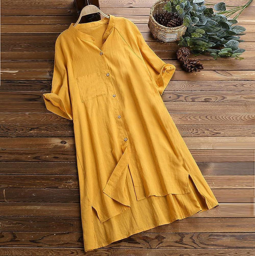 Camisas para Mujeres, Mujeres Clásico Colores Sólidos Casual Más ...