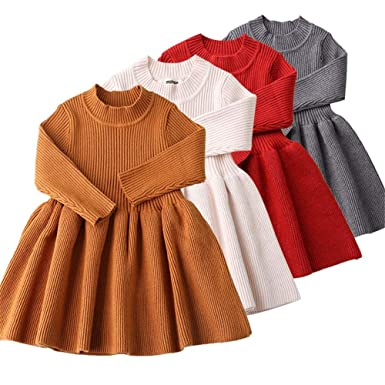 Wang-RX Vestidos de otoño Invierno para bebés recién Nacidos para ...