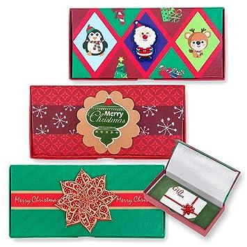 Amazon.com: 6 cajas de regalo de Navidad Titular de la ...