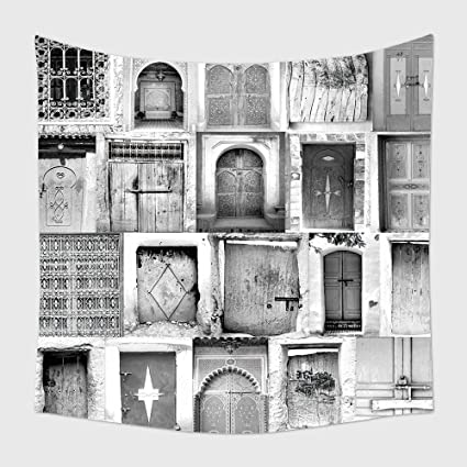 b81f03435db3 Amazon.com: Home Decor Tapestry Wall Hanging Black And White Poster ...