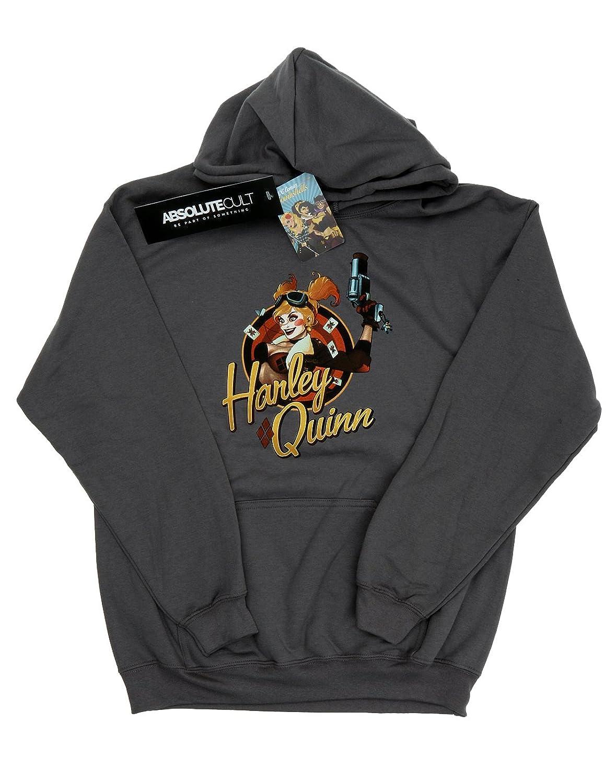 DC Comics Women's Bombshells Harley Quinn Badge Hoodie
