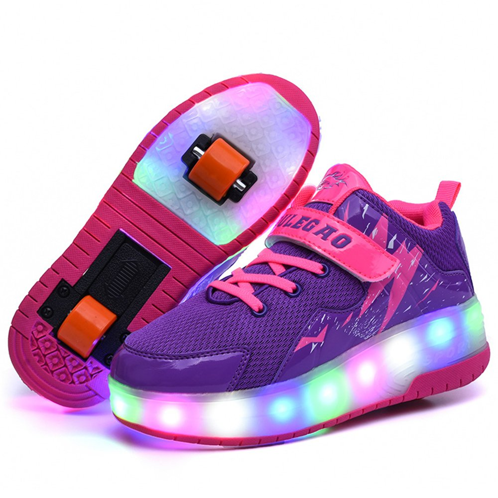 24XOmx55S99 Double Wheel Glowing Sneaker LED Light Casual Shoes Boys Girls Full Light Flash Shoes