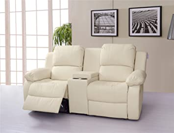 Lovesofas Valencia 2 Seater Bonded Leather Recliner Sofa With