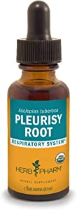 Herb Pharm Certified Organic Pleurisy Root Liquid Extract for Respiratory System Support - 1 Ounce