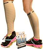 Calf Compression Sleeve for Men & Women, Best Footless Socks for Shin Splints & Leg Cramps, Runners Calves Circulation Remedy, Support Stockings, Running Gear, Basketball Lycra Tights -Free Ebook