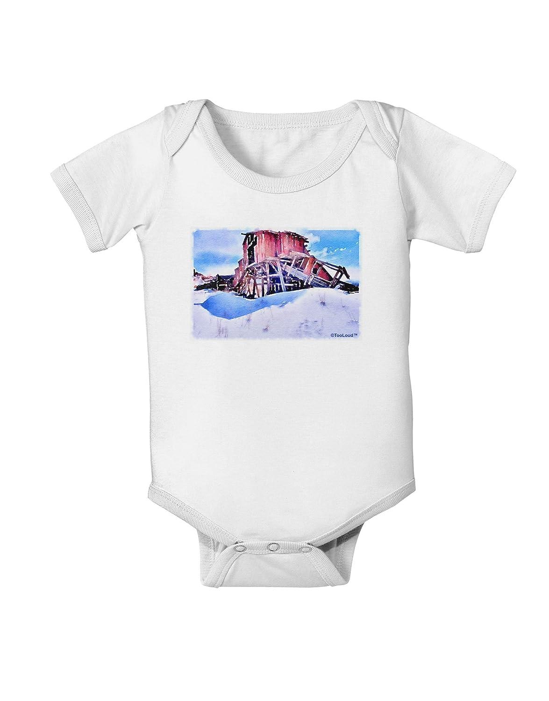TooLoud Victor Mines Colorado Watercolor Baby Romper Bodysuit