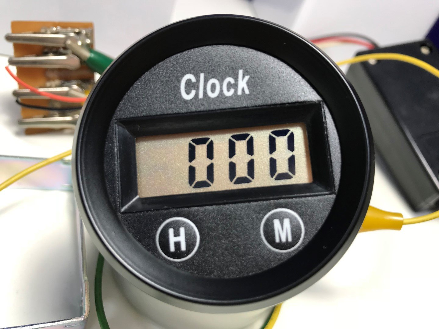 PA Auto Digital Clock Gauge Amber Back Light for Car Interior Dash 52mm 2 1/16''(12 Volt DC)