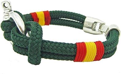 Pi2010 - Pulsera náutica con grillete/Color Verde/Bandera de ...