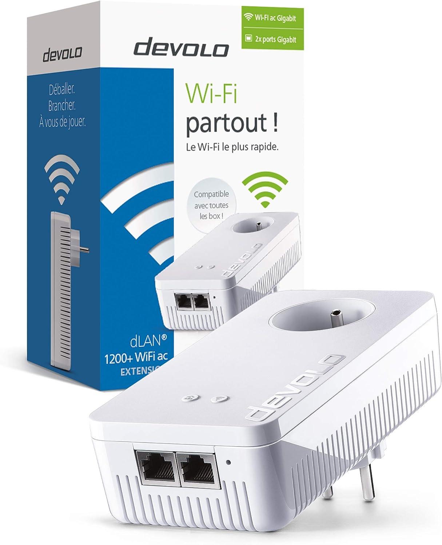 Adaptador de comunicaci/ón por l/ínea el/éctrica Blanco dLAN 1200+ WiFi AC, WPA//WPA2 Devolo 9384