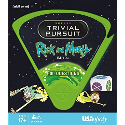 USAOPOLY Trivial Pursuit Rick & Morty - Quick Play Version | Trivia Questions Based On The Adult Swim Show Rick & Morty | Officially Licensed Rick & Morty Game: Toys & Games