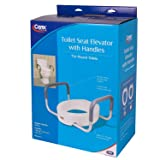 Carex 3.5 Inch Raised Toilet Seat with Arms - For