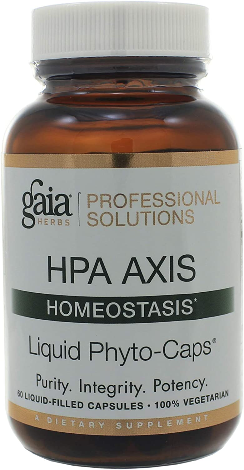 Gaia Herbs Professional Solutions HPA Axis Liquid Capsules, Homeostasis, 60 Count