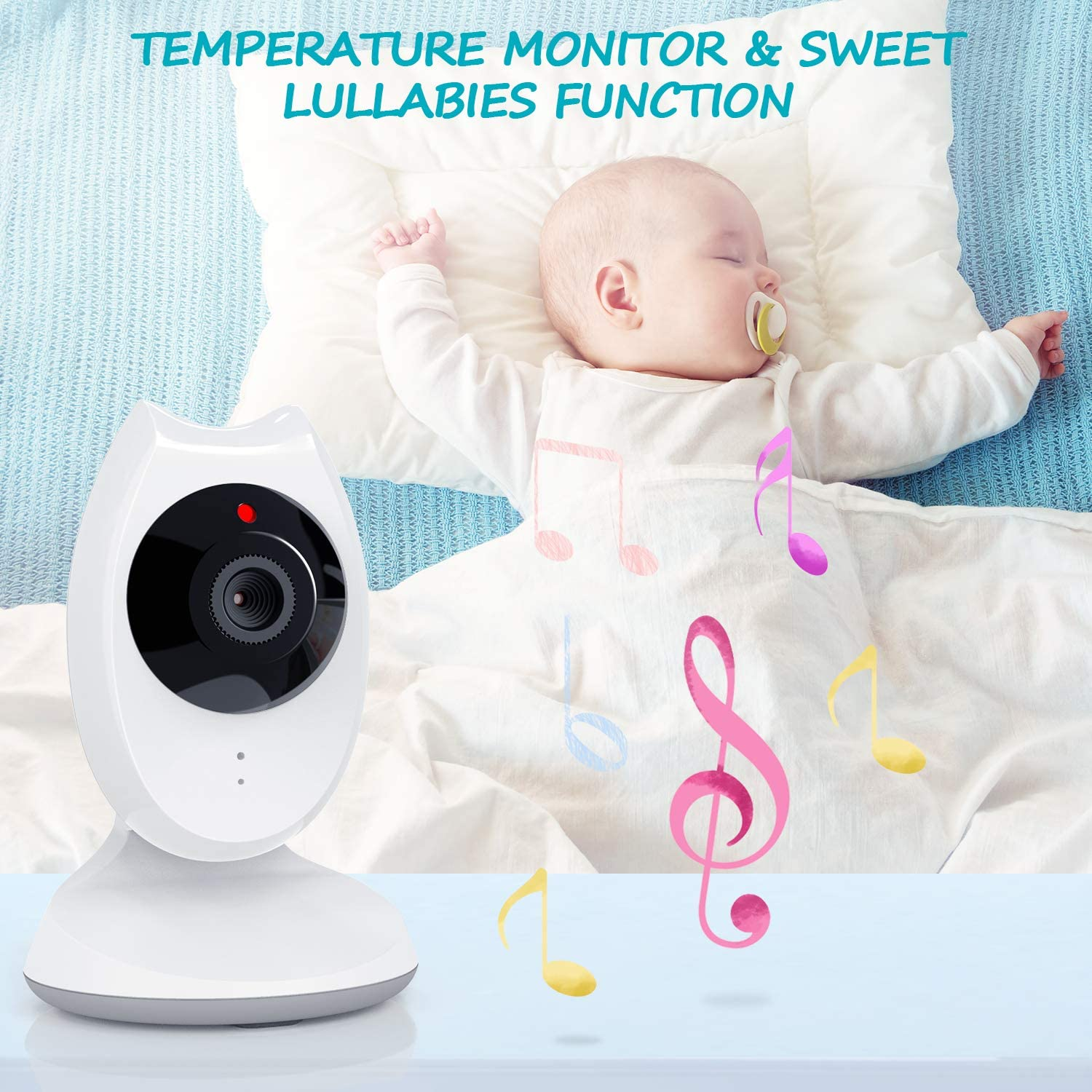 Baby Monitor 4.3 inch LCD Screen Video Baby Monitor Two-Way ...