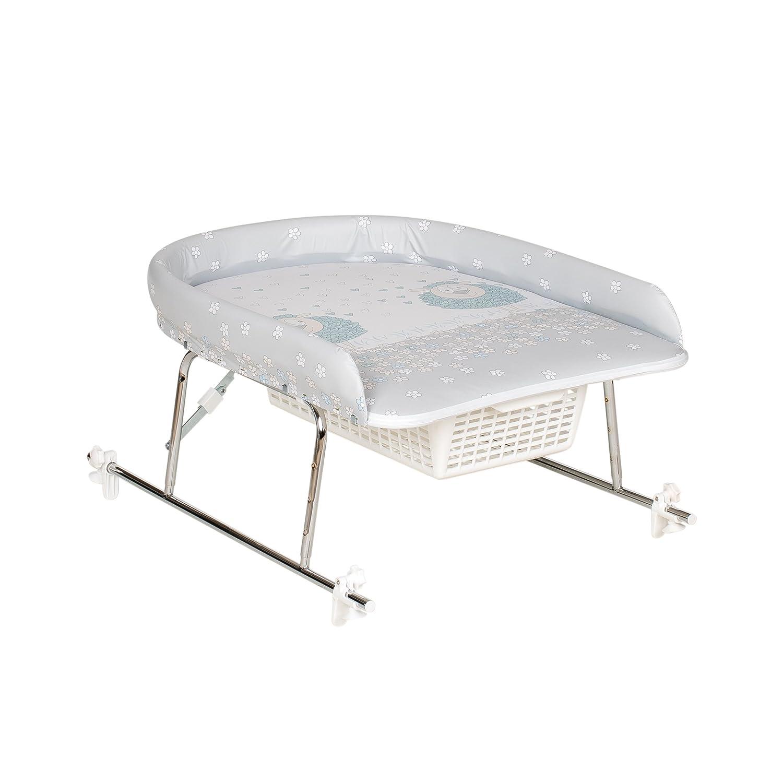 Geuther - Wickelaufsatz 4815, TÜV geprüft, verchromt, zusammenklappbar, höhenverstellbar, für Badewannen mit einer Tiefe von 39 - 66 cm, Schaf