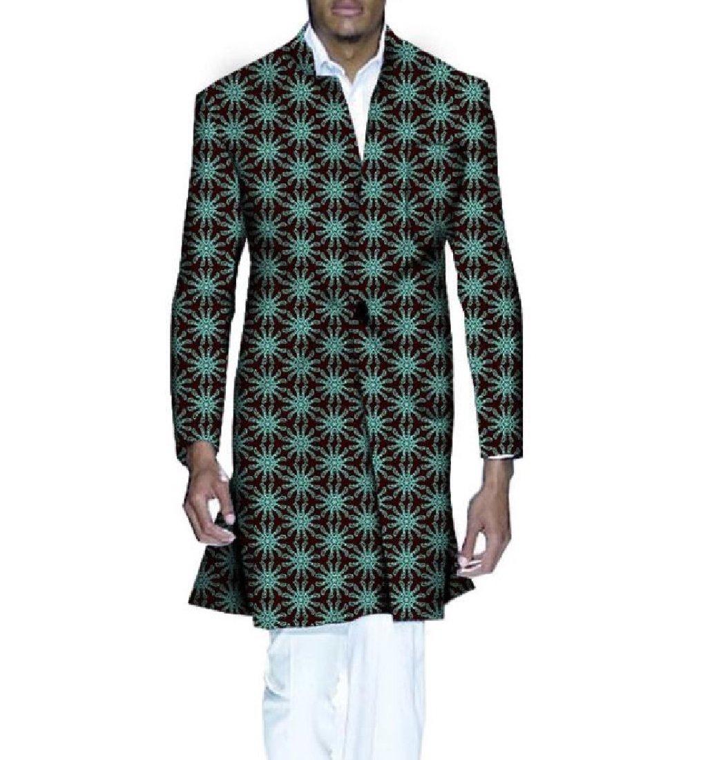 Tootless Men Colortone Print Jackets Dashiki Africa Personalized Windbreakers 8 2XL