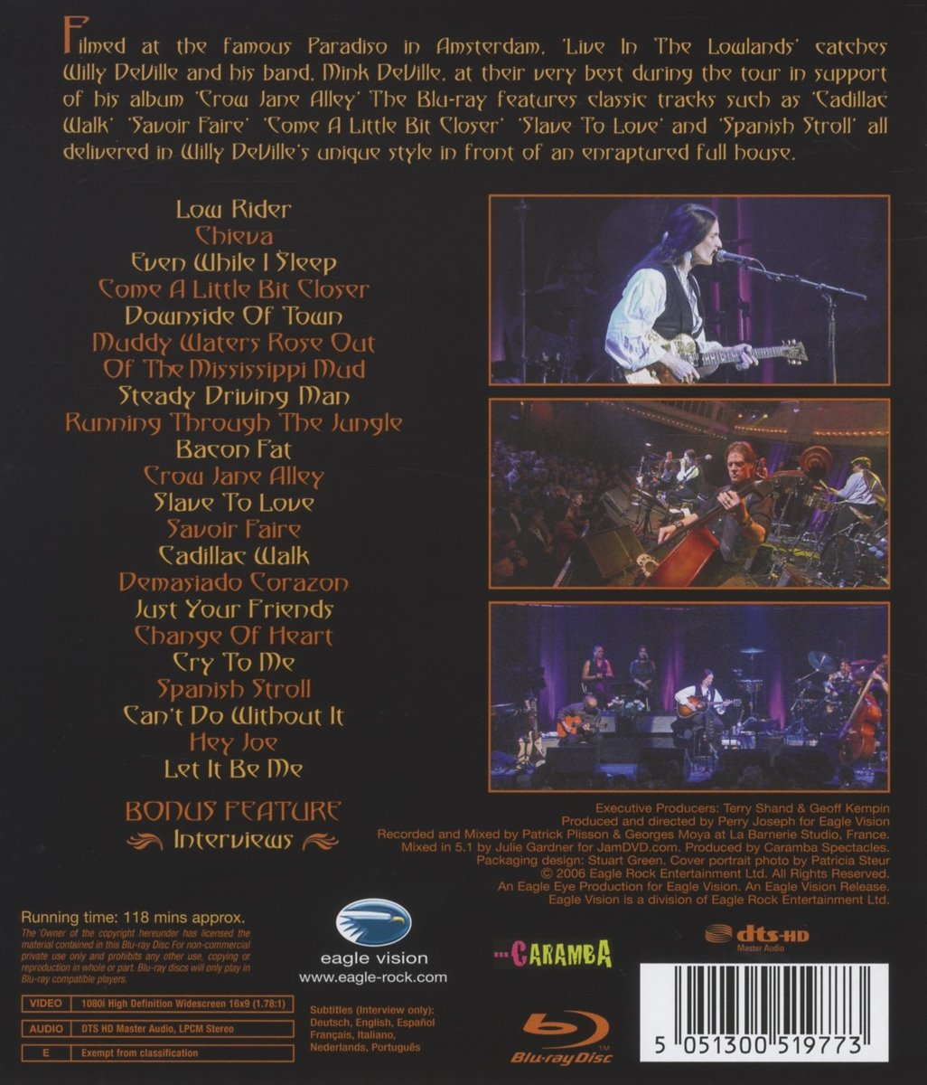 Amazon.com: Live In The Lowlands [Blu-ray] [2013]: Willy ...