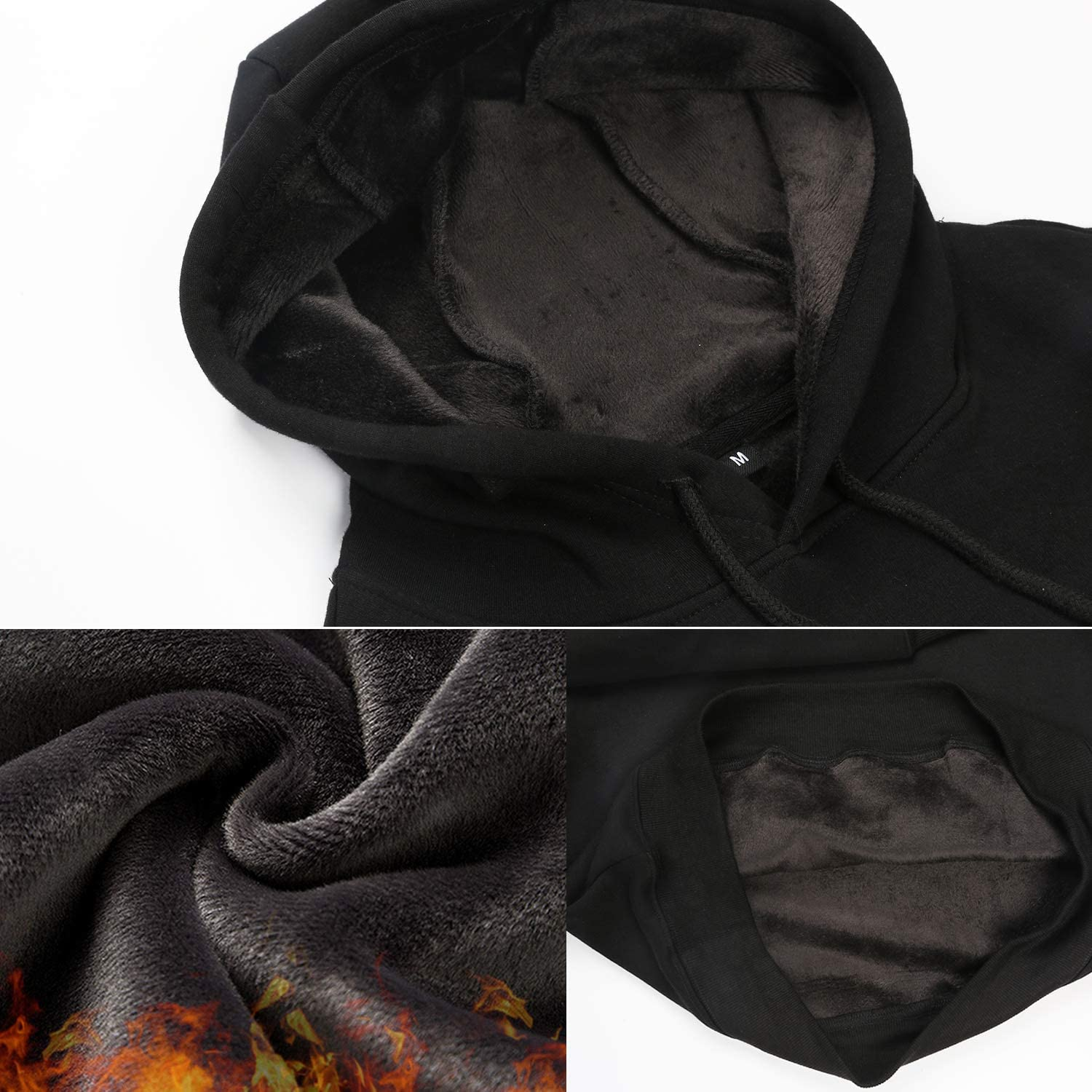 Mens Fleece Hoodie Galaxy Unicorn Wool Warm Soft Winter Gift Pullover Hooded Sweatshirt