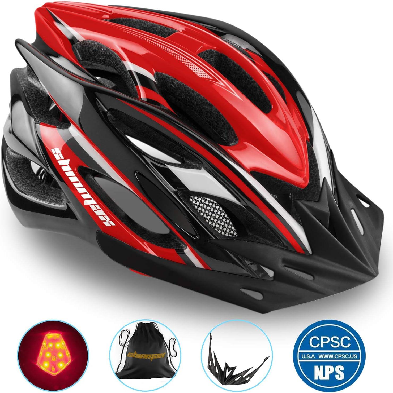 Shinmax Casco Bicicleta con Visera, Protección de Seguridad Ajustable Deporte Ligera para Montar en Bicicleta Casco de Bicicleta BMX Scooter Skate Mountain Road Hombres Mujeres Adulto