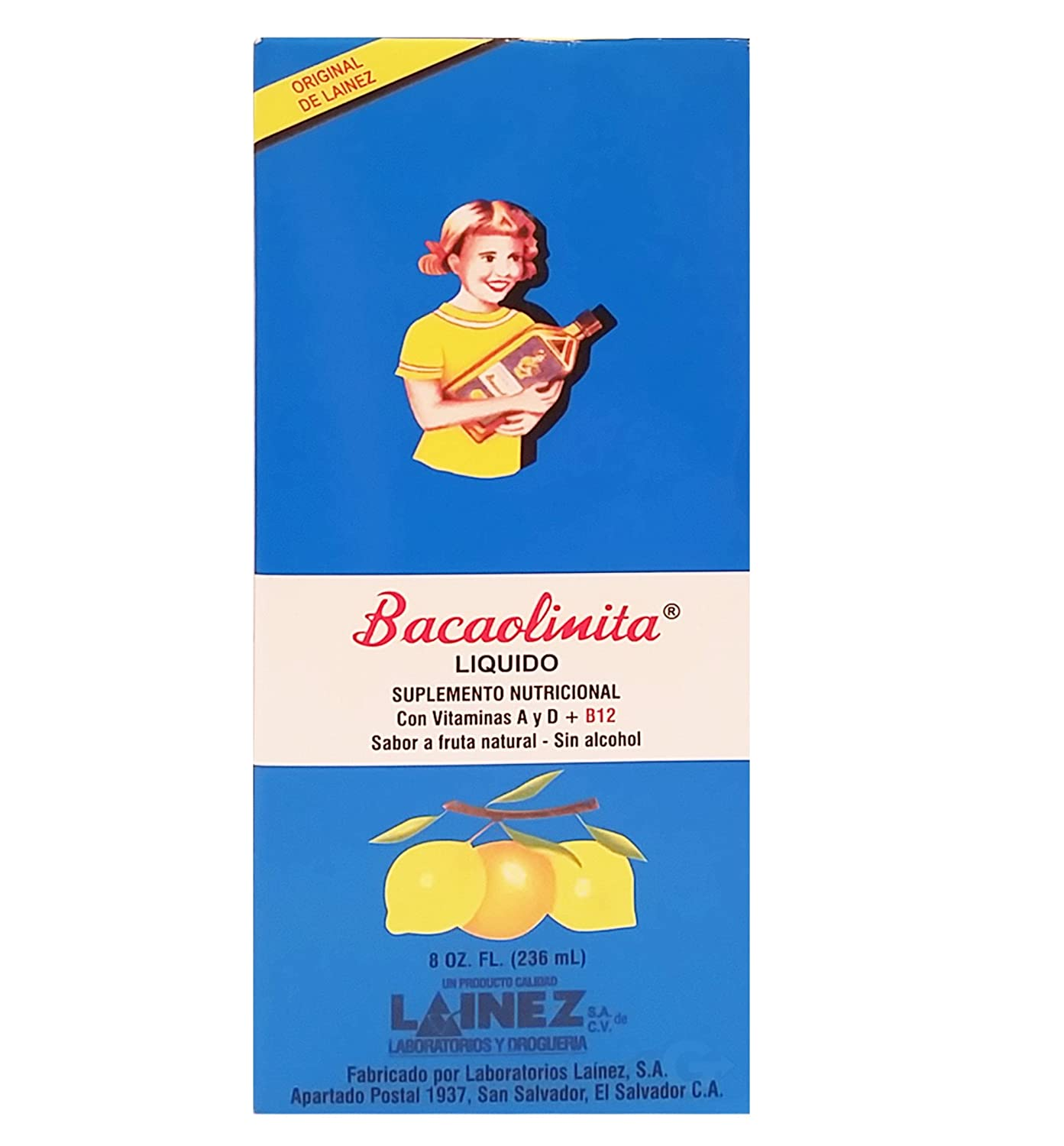 Amazon.com: Lainez Bacaolina Adults Dietary Supplement 8 oz - Suplemento Nutricional para Adulto 8 oz (Pack of 1): Health & Personal Care