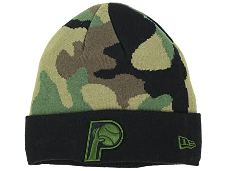 8288bc468b08a Image Unavailable. Image not available for. Color  Indiana Pacers NBA New  Era Fashion Cuffed HWC Camo Black Beanie Hat