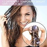 Qivange Hair Chalk Comb Set 12 Pieces Color for