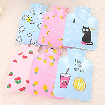 Hot Water Bottle, Mini Body Cute Size Water Bag Soundmae Fresh Feeling Hot Water Bottle Bags, Practical and Creative Gifts, Design will Be Picked Randomly (1 Pack)