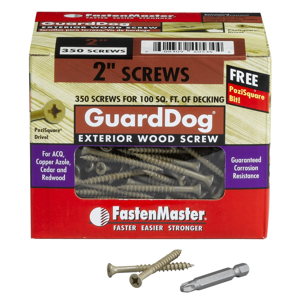 3-Inch 350-Pack FastenMaster FMGD003-350 GuardDog Exterior Wood Screw Tan