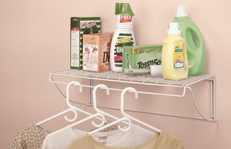 ClosetMaid 8278 18-Inch Wide Laundry Utility Hanger Shelf