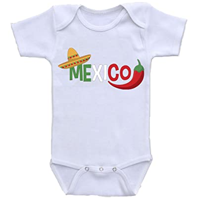 """ Mexico "" Custom Boutique Baby bodysuit onesie."