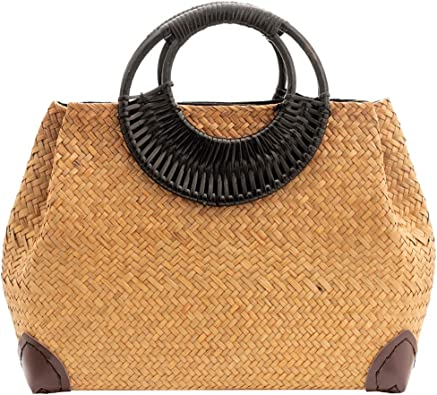 Handwoven Summer Handbag with long handles