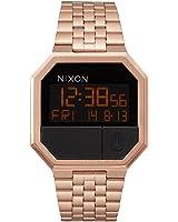 Nixon Re-Run All Rose Gold - Reloj de cuarzo para mujer, correa de acero inoxidable color dorado